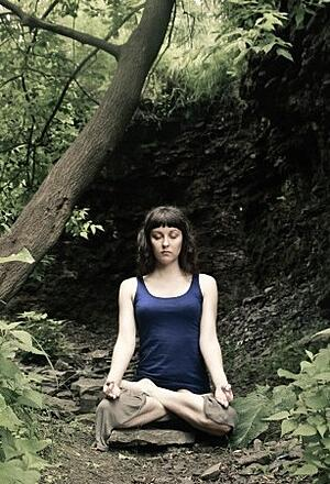 Erin_Meditating_in_the_Woods_rectangle